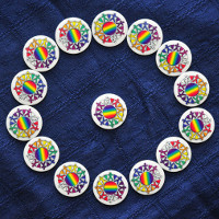 peace mala badges