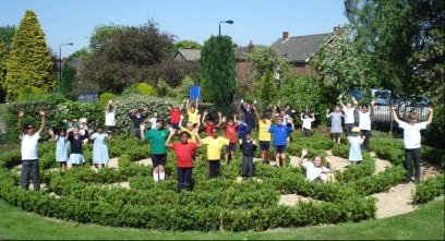The labyrinth at Woodheys Primary School, Sale - winners of the Junior Award